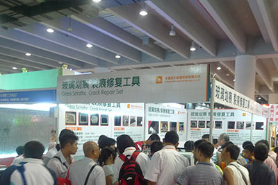 In July 9, 2010 Guangzhou International Building Decoration & Materials Expo (Glass Hall)